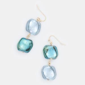 Mohito - Náušnice skamínky - Modrá