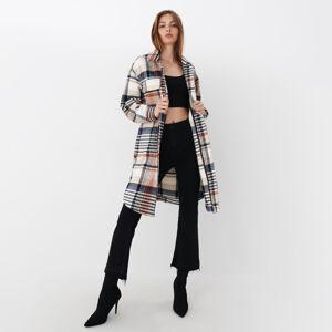 Mohito - Kostkovaný kabát - Krémová