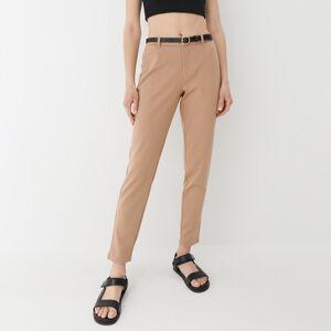 Mohito - Cigaretové kalhoty spáskem - Béžová