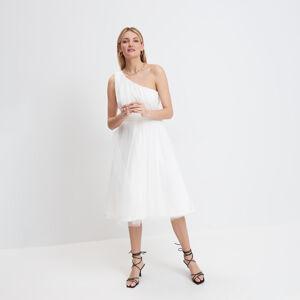 Mohito - Šaty na jedno rameno - Krémová