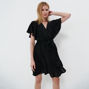 Mohito - Ažurové šaty - Černý