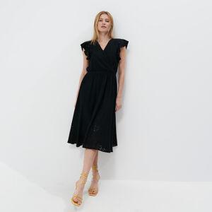 Mohito - Překládané midi šaty - Černý