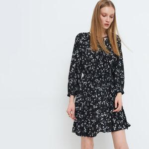 Mohito - Skládané šaty Eco Aware - Černý