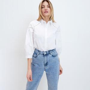 Mohito - Košile sažurovými vsadkami - Bílá