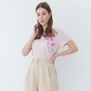 Mohito - Tričko s květinovou ozdobou - Růžová