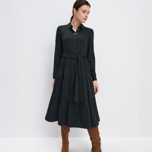 Mohito - Viskózové midi šaty - Khaki