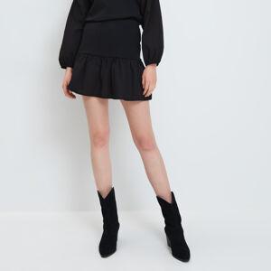 Mohito - Mini sukně svolánovým lemem - Černý