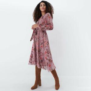 Mohito - Květované midi šaty - Růžová