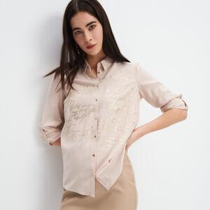 Mohito - Viskózová košile spotiskem - Béžová