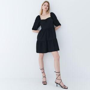 Mohito - šaty sbalonovými rukávy - Černý