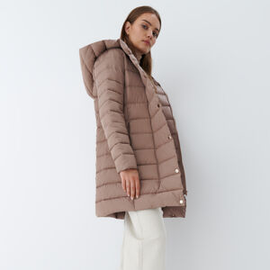 Mohito - Prošívaný kabát Eco Aware - Hnědá