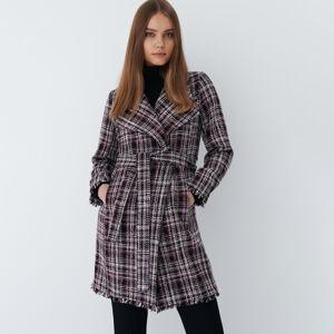 Mohito - Kostkovaný kabát - Růžová