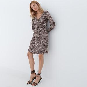 Mohito - Leopardí šaty - Béžová