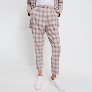 Mohito - Kostkované kalhoty - Růžová