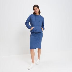 Mohito - Pletená midi sukně - Tmavomodrá