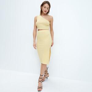 Mohito - Přiléhavá midi sukně - Žlutá