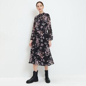 Mohito - Midi šaty spotiskem - Černý