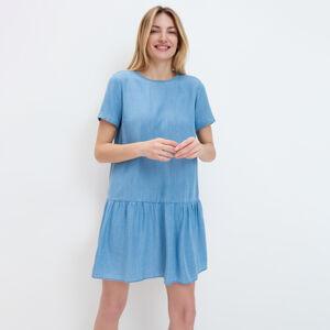 Mohito - Šaty s volánem Eco Aware - Modrá