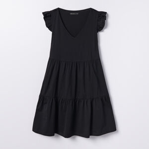 Mohito - Bavlněné šaty svolánovým lemem - Černý
