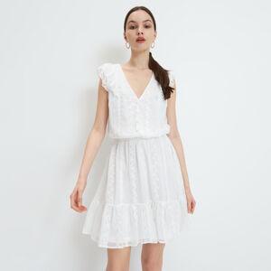 Mohito - Šaty s volánem - Krémová