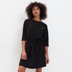 Mohito - Úpletové šaty s vázáním  Eco Aware - Černý