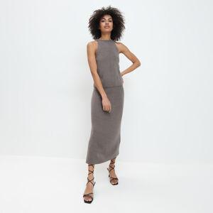 Mohito - Pletená midi sukně - Khaki