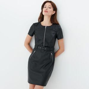 Mohito - Koženkové šaty - Černý