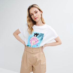 Mohito - Tričko s potiskem - Bílá