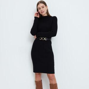 Mohito - Pleteninové šaty - Černý