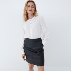 Mohito - Tričko se stojatým límcem - Bílá