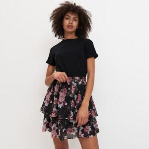 Mohito - Vzorovaná sukně svolány - Černý
