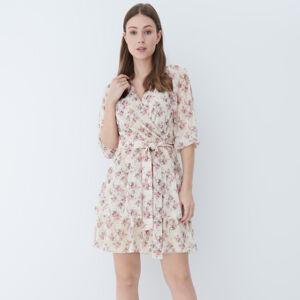 Mohito - Šaty s květinovým vzorem - Krémová