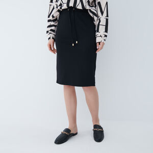 Mohito - Pletená midi sukně - Černý