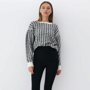 Mohito - Pepitový svetr - Černý