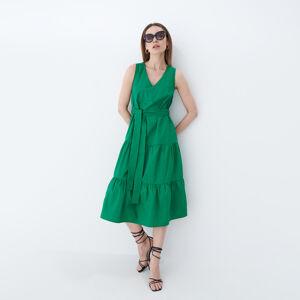 Mohito - Bavlněné midi šaty - Zelená