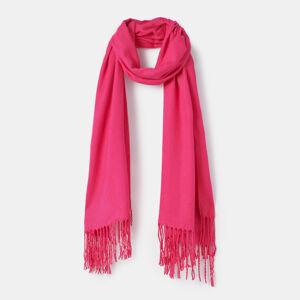Mohito - Jednobarevná šála s třásněmi - Růžová