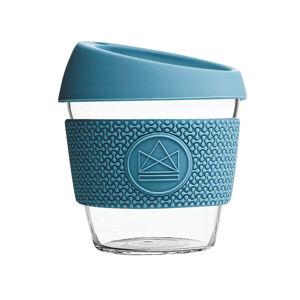 Skleněný hrnek na kávu, S, 230 ml, Neon Kactus, modrý