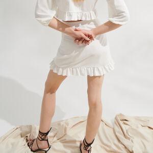 Mohito - Sukně s kanýrem - Bílá