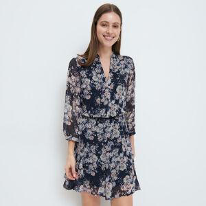 Mohito - Šifonové květované šaty - Modrá