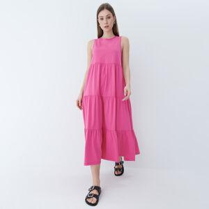 Mohito - Bavlněné maxi šaty - Růžová