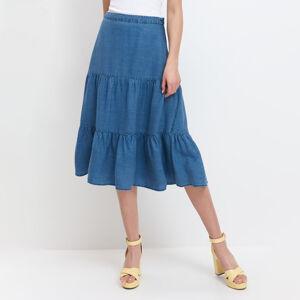 Mohito - Džínová sukně svrstvenými volány Eco Aware - Tmavomodrá