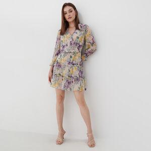 Mohito - Šifonové květované šaty Eco Aware - Beige