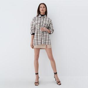 Mohito - Kostkovaná košile oversize - Bílá