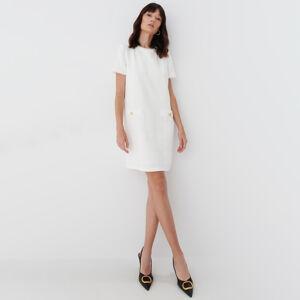 Mohito - Tvídové šaty - Bílá