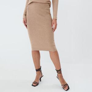 Mohito - Pletěná sukně Eco Aware - Béžová