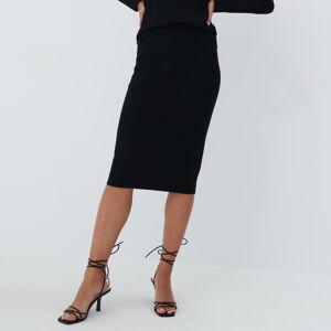 Mohito - Pletěná sukně Eco Aware - Černý