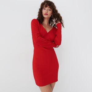 Mohito - Žerzejové šaty svázáním - Červená