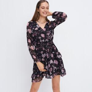 Mohito - Šifonové květované šaty - Černý