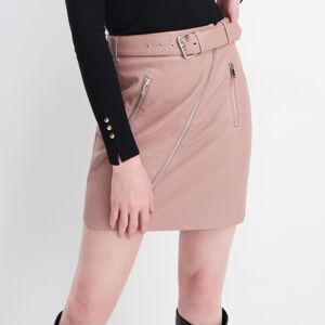 Mohito - Koženková sukně - Růžová