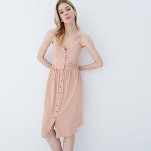 Mohito - Viskózové midi šaty - Oranžová